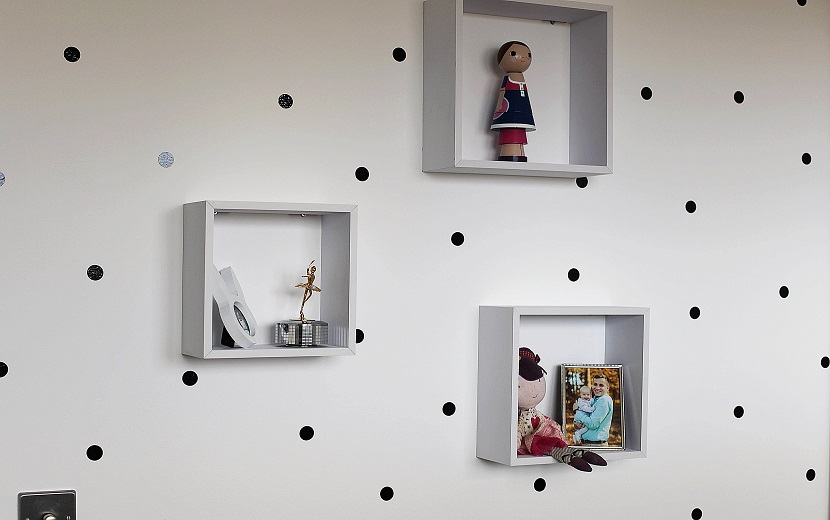 polka dot wall diy projekt