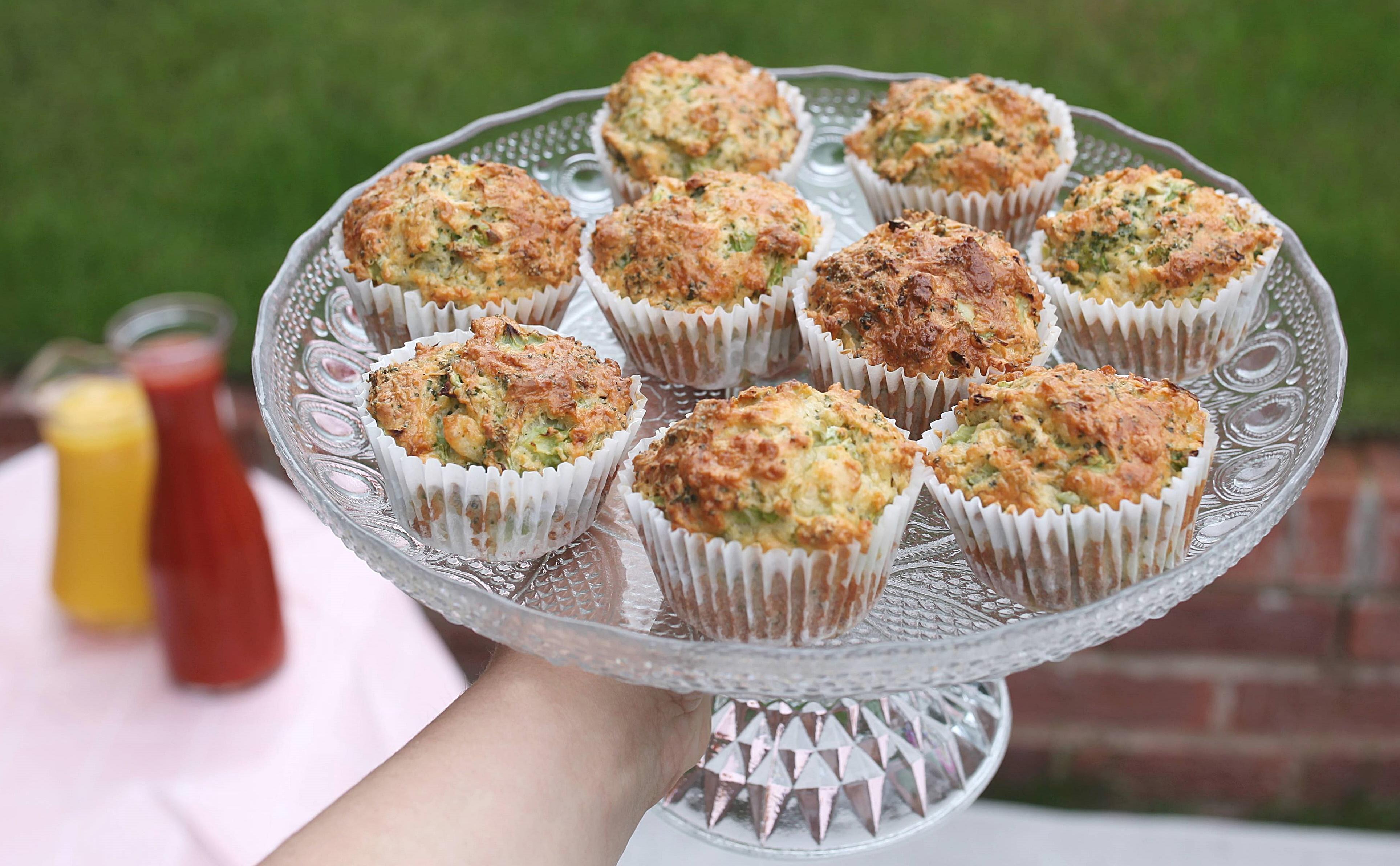 zielone babeczki ze szpinakiem